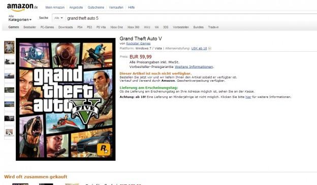 GTA V Amazon PC