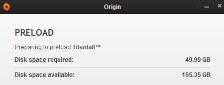Titanfall preload started today