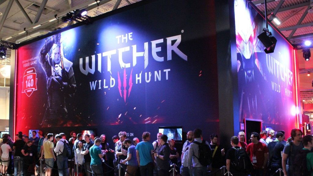 witcher 3 gamescom 2014 booth waiting lines
