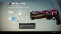 Auto rifle her right hand auto rifle merciless hand cannon