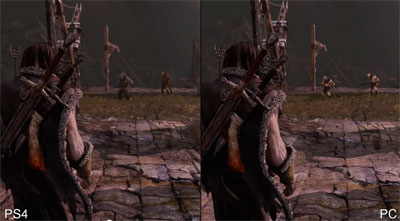 Shadow of Mordor Console and PC Graphic Comparison