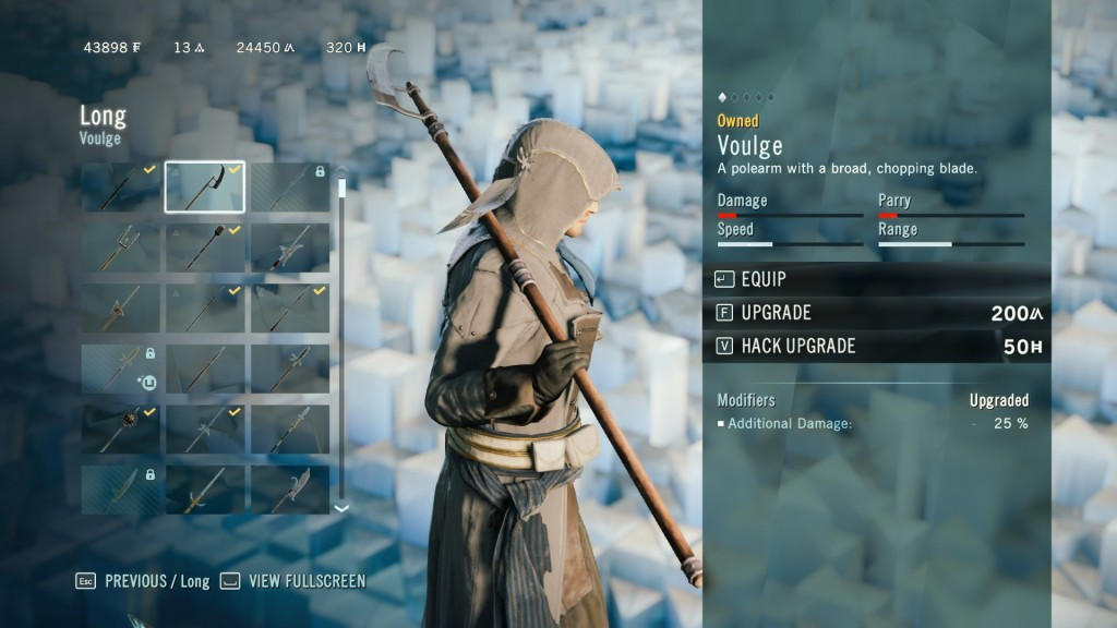 AC Unity Voulge Long Weapon  1 Voulge Weapon