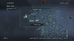 Assassin's Creed Rogue Templar Map Greenwich