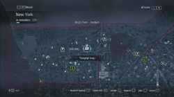 Assassin's Creed Rogue Templar Map King;s Farm