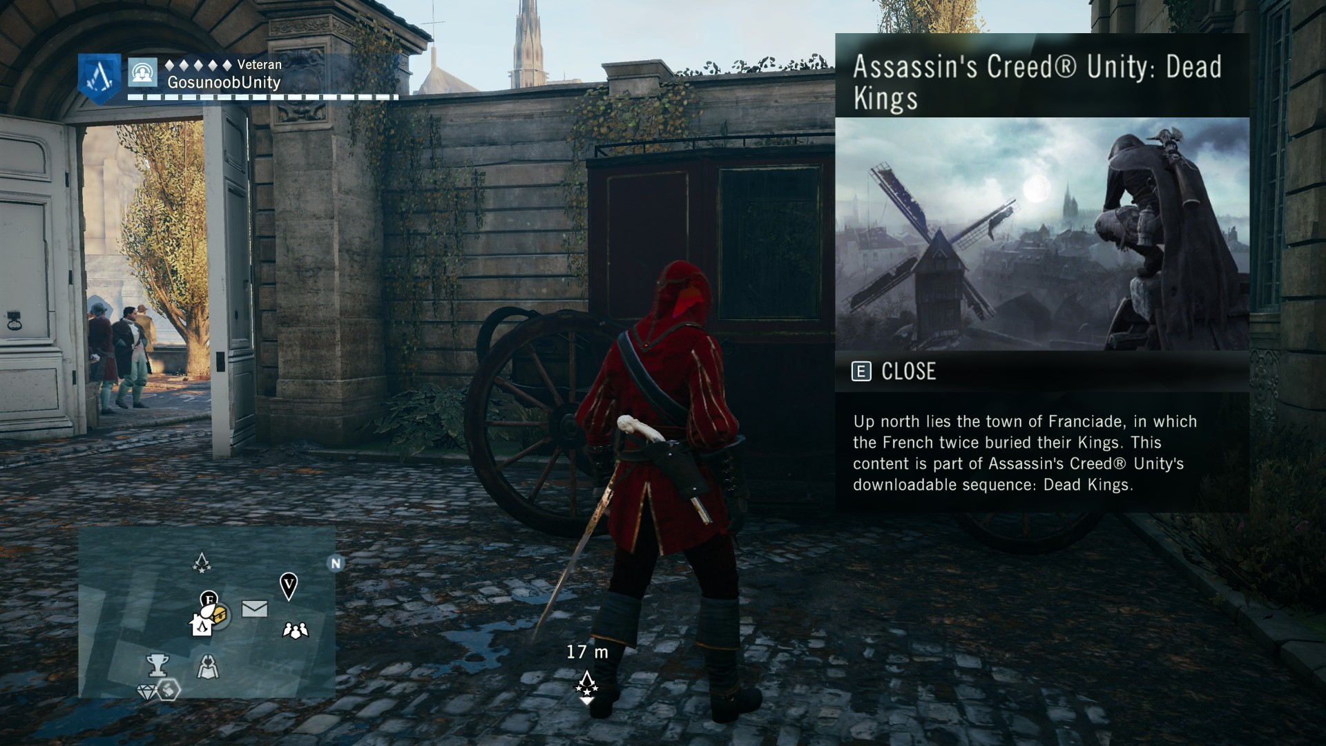 How to start playing Dead Kings DLC in AC Unity
