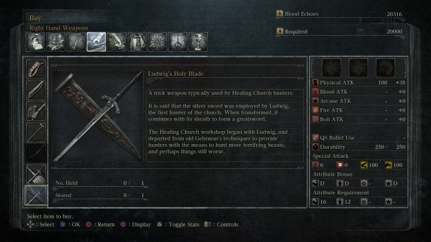 ludwig's holy blade stats and look