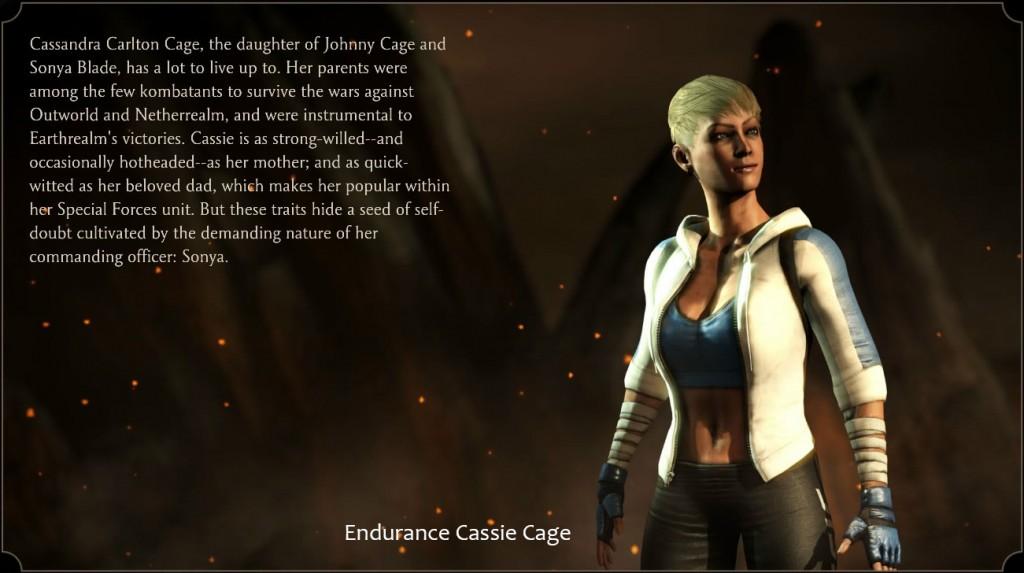 Cassie Cage, Endurance