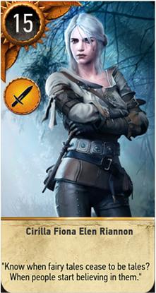 Cirilla Fiona Elen Riannon card