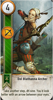 Dol Blathanna Archer card