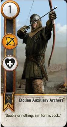 Etolian Auxiliary Archers card