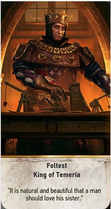 Foltest King of Temeria card