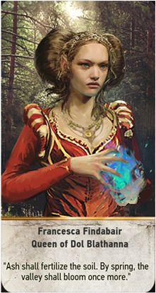 Francesca Findabair Queen of Dol Blathanna card