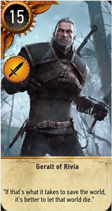 Geralt of Rivia card
