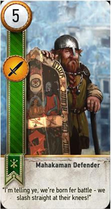 Mahakaman Defender card