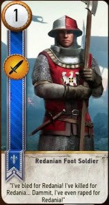 Redanian Foot Soldier card