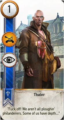 Witcher 3 gwent cards thaler