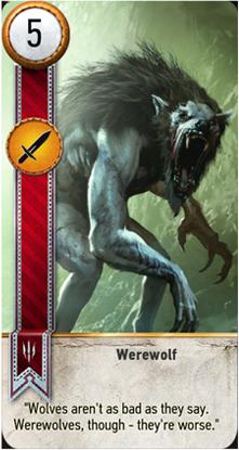 Werewolf card