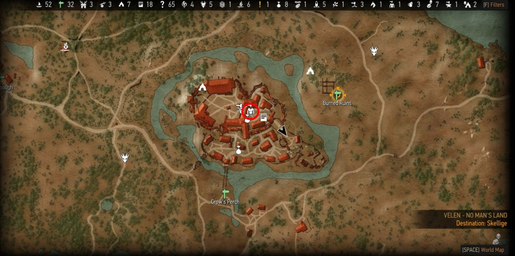 Witcher gambling den location