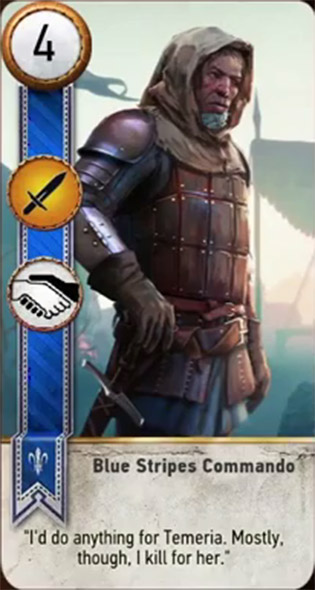 blue stripes commando card