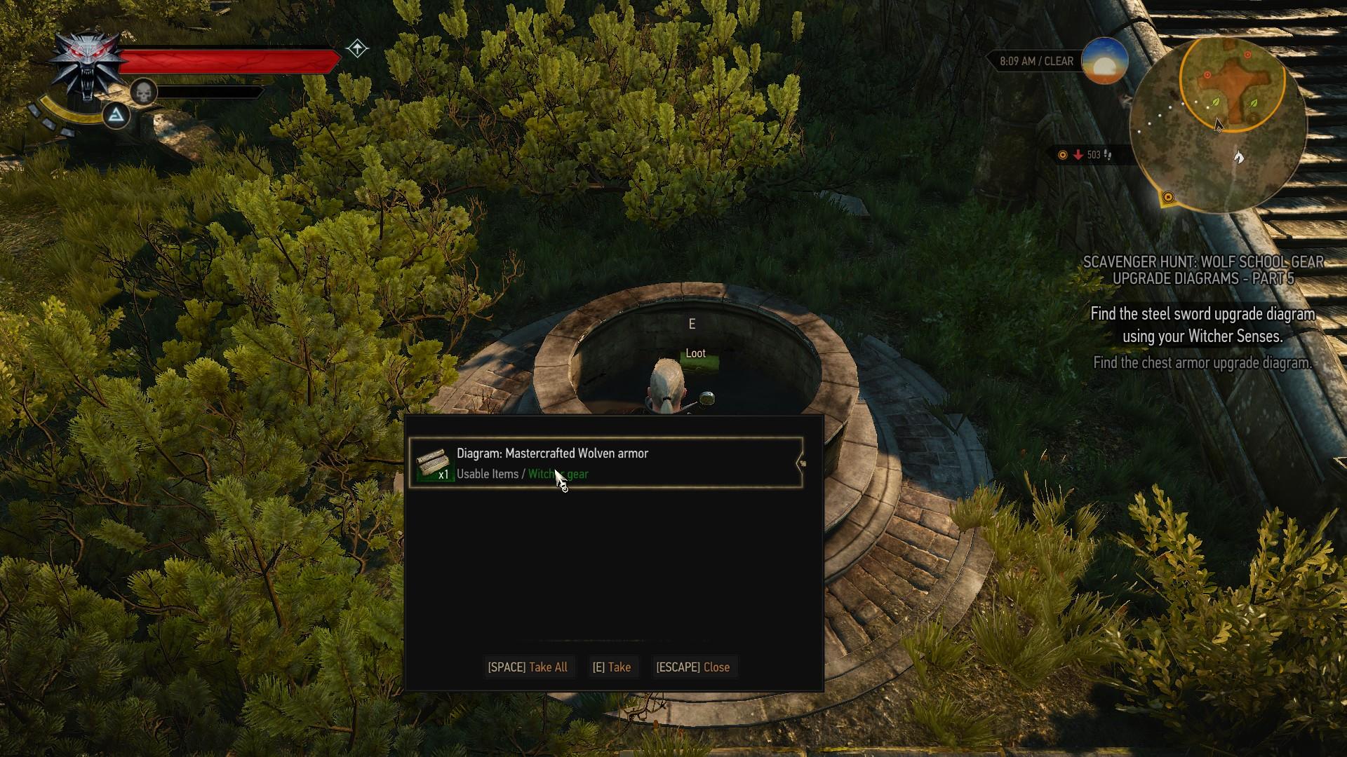 Witcher 3 Mastercrafted Wolf Armor Diagram Location - Gosu ... - photo#34