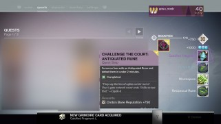 Destiny Calcified Fragments