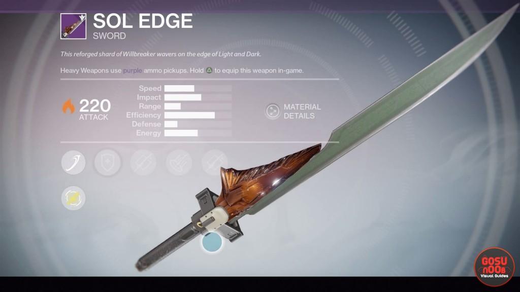 Destiny Taken King Legendary Sword