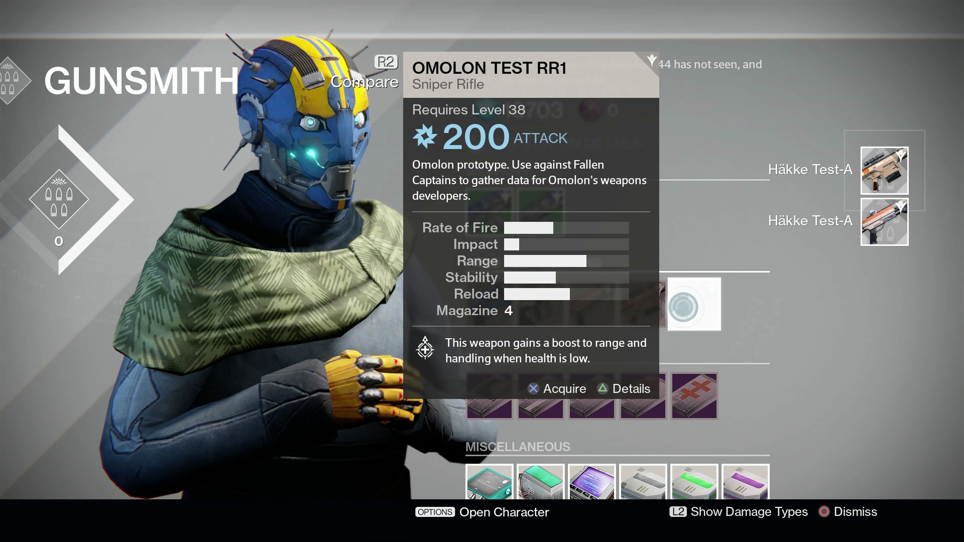 Gunsmith weapon field test tasks guide destiny malvernweather Image collections