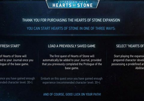 How to start Hearts of Stone expansion quest