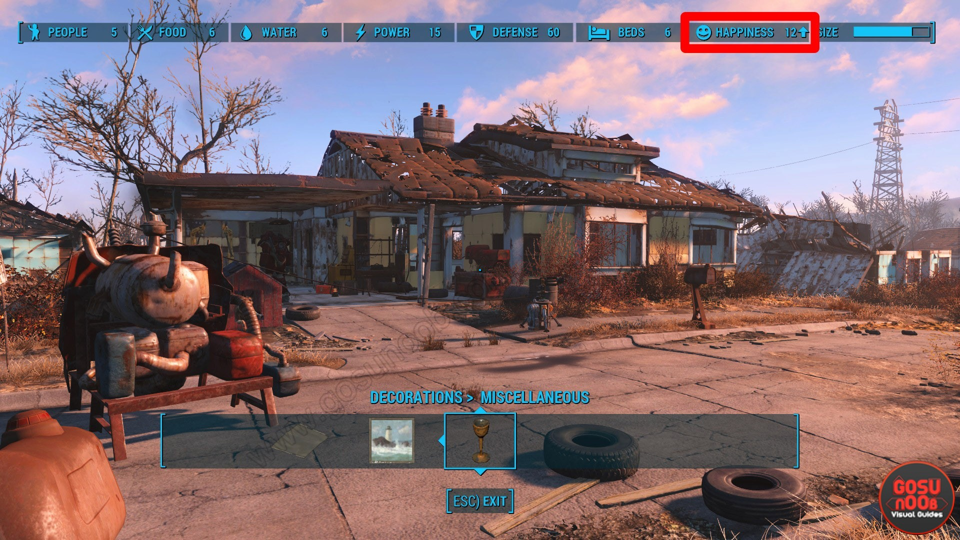 How to raise happiness in settlements fallout 4 gosu noob for Fallout 4 bedroom ideas