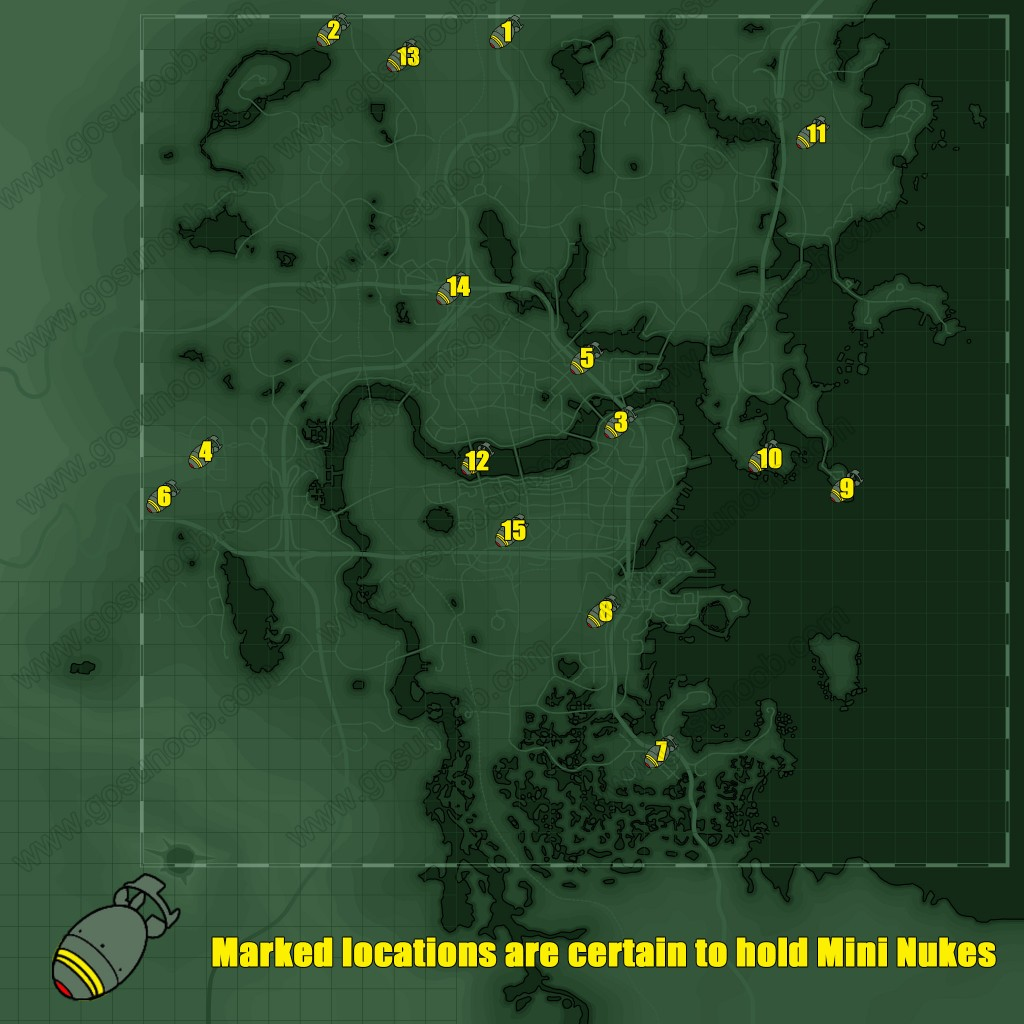 photograph about Fallout 4 Printable Map named Fallout 4 Mini Nuke Map - Excess weight Male Launchers