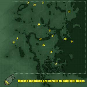Fallout 4 Mini Nuke Map All Locations Guide
