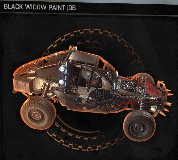 Black Widow Paint Dying Light
