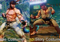ryu alternate costumes sfv