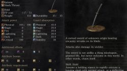 Chaos Blade Description Dark Souls 3