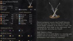 Dancer's Enchanted Swords Weapon Dark Souls 3