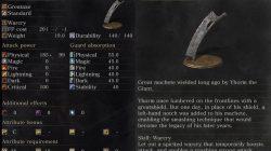Dark Souls 3 Yhorm's Great Machete Weapon