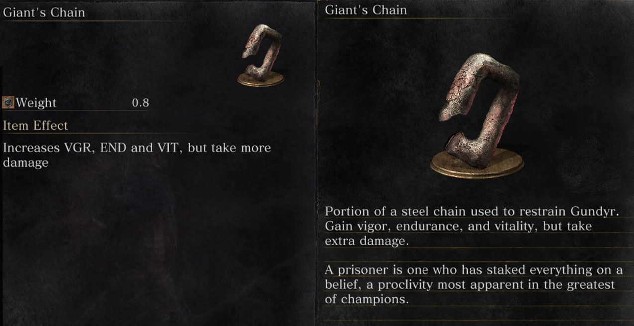 Chain Ring Dark Souls
