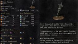 Vordt's Great Hammer Dark Souls 3