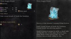 White Dragon Breath Sorcery Dark Souls 3