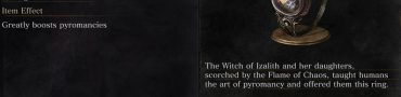 Witch's Ring Description Dark Souls 3
