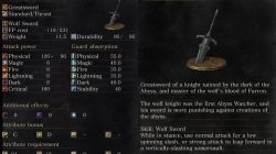 Wolf Knight's Greatsword Dark Souls 3