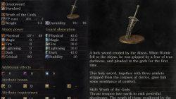 Wolnir's Holy Sword Dark Souls 3