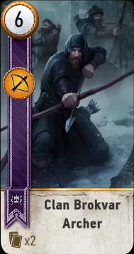 clan brokvar archer gwent card