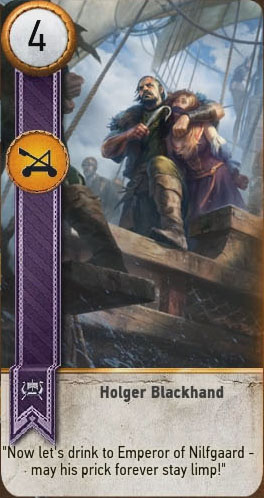 holger blackhand gwent card witcher 3