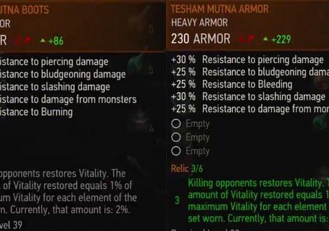 tesham mutna armor witcher 3