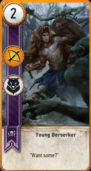 young berserker gwent card witcher 3