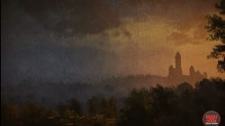 witcher 3 painting arezuta's tower at sundown