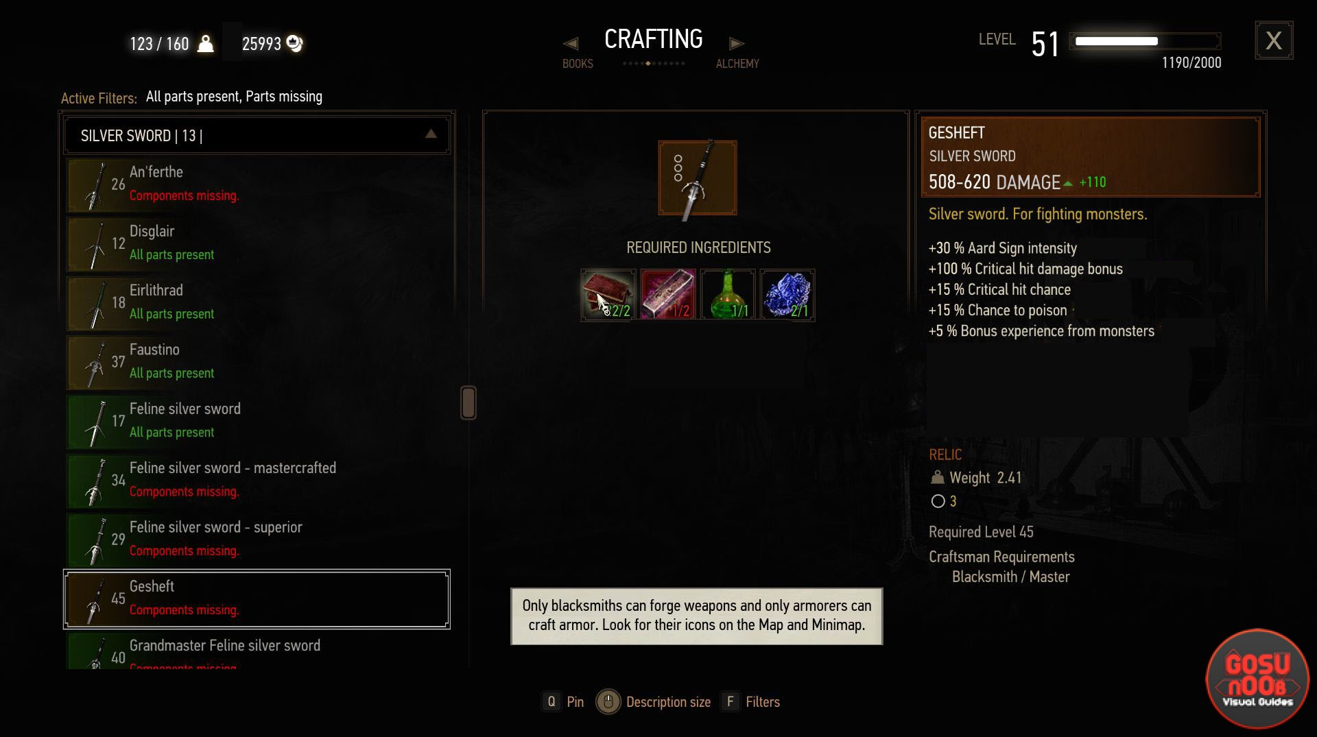 Gesheft silver sword witcher 3 blood and wine solutioingenieria Image collections