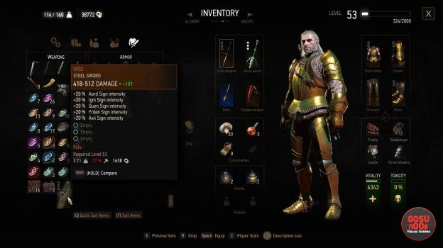 witcher 3 vitis relic steel sword