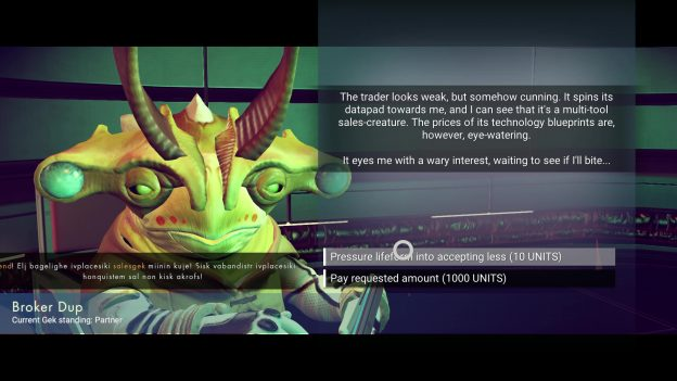 gek optional conversations no man's sky